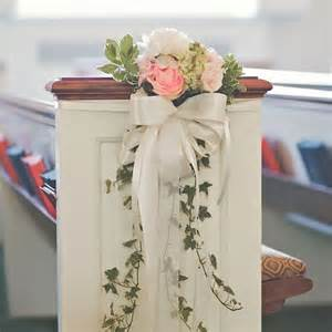 pew decorations pew decor with and real flowers wedding decor