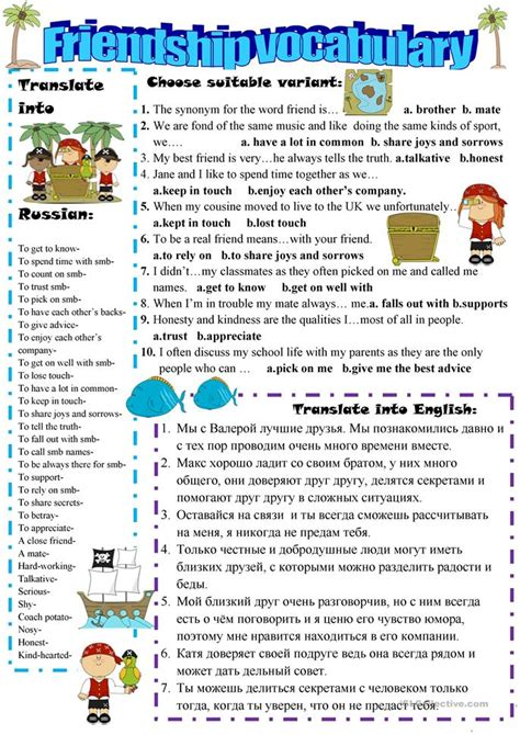 Friendship Worksheets by Friendship Expressions Worksheet Free Esl Printable