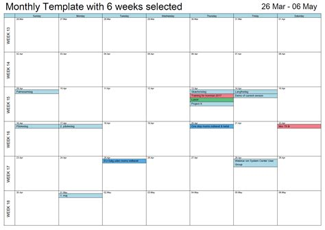 printable weekly outlook calendar outlook printable calendar in a4 a3 outlook calendar print