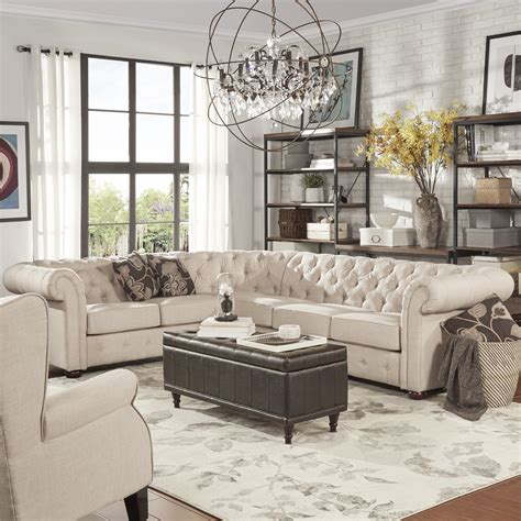 Cheap Tufted Sectional Sofa Www Energywarden Net Inexpensive Tufted Sofa