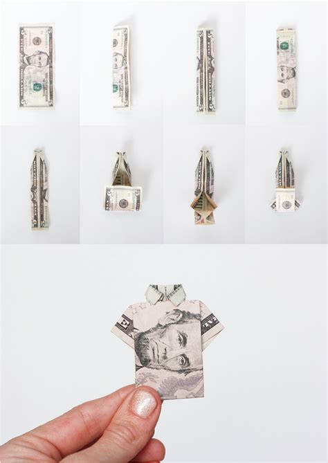 How To Fold Money Origami - birthday week money origami shirt birthday cards one