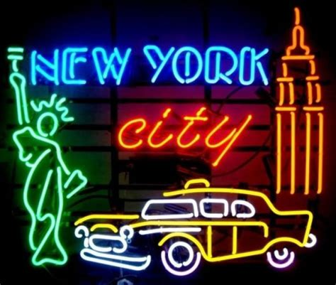 Lu Led Motor Fleksibel enseigne lumineuse n 233 on new york city 80 x 70 cm