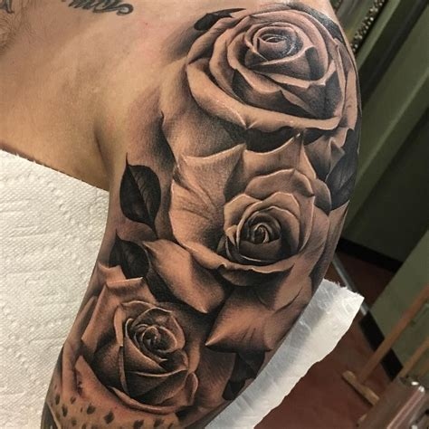 arm rose tattoo designs 7 083 likes 87 comments clifford chen cliffink art