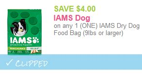 iams dog food coupons free printable save 4 00 on iams dog food