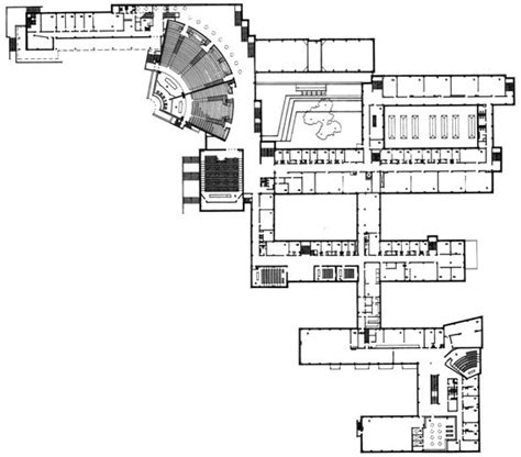 alvar aalto floor plans helsinki university of technology in espoo finland by