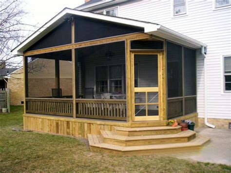 porch design plans mobile home screened porch