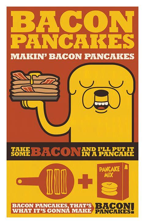 Kaos Adventure Time Bacon Pancakes adventure time bacon pancakes on behance