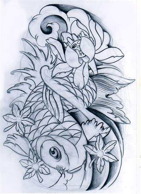 koi fish tattoo sketch koi fish unfinished by willemxsm on deviantart