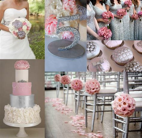 And Silver Wedding Flower Ideas by Pink And Silver Wedding Ideas Bridebug