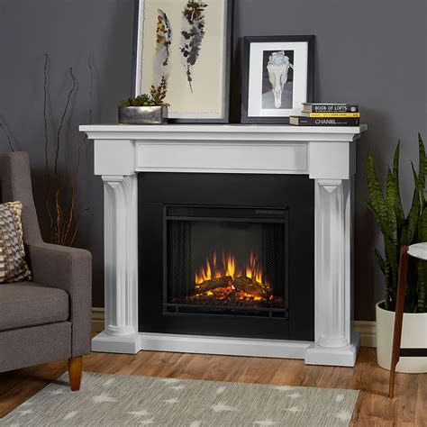 verona electric fireplace mantel package in white 5420e w