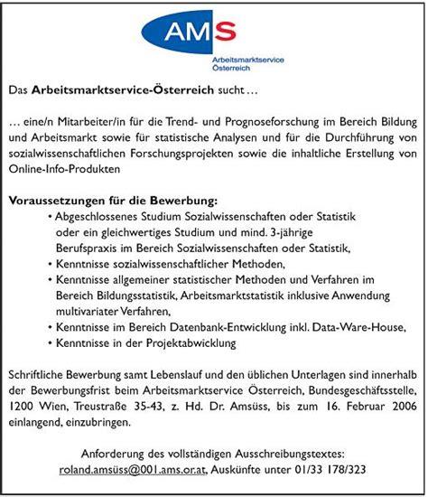 Lebenslauf Vorlage Ams Ams Forschungsnetzwerk