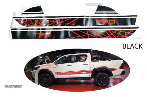 Sticker Sing Mobil Toyota Trd Sportivo black sticker style trd racing decal fit toyota hilux revo