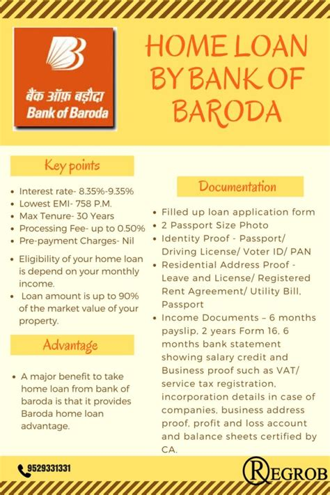 bank of baroda house loan home loan by bank of baroda housing loan processing fee
