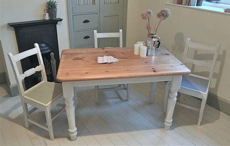 painted kitchen table pine painted farmhouse kitchen table by distressed but not forsaken notonthehighstreet