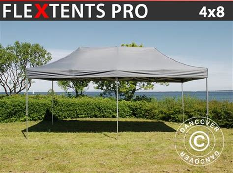 dancover gazebi gazebo pieghevole flextents pro 4x8m grigio dancovershop it