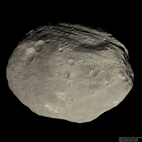 what color is global view of vesta in color the planetary society