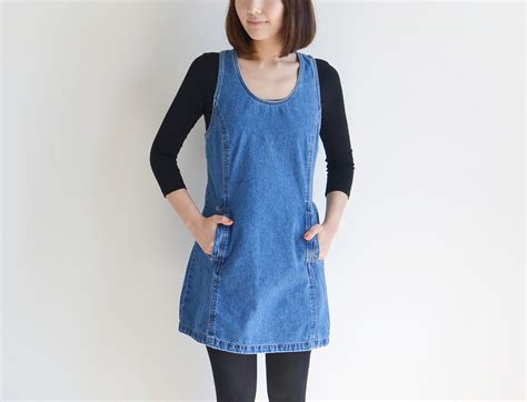 jumper dress vintage jordache blue denim jumper dress