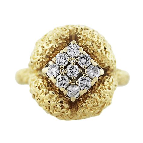 18k yellow gold nugget ring boca raton