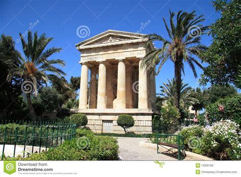 garden decoration malta barrakka garden of valletta malta royalty free