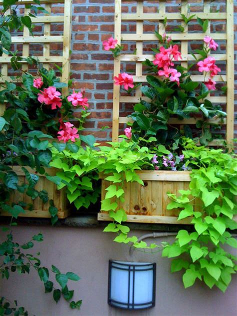 Planters Nyc by Nyc Terrace Design Roof Garden Planter Boxes Trellis