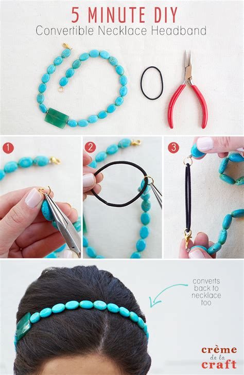 5 Minute DIY   Convertible Necklace Headband