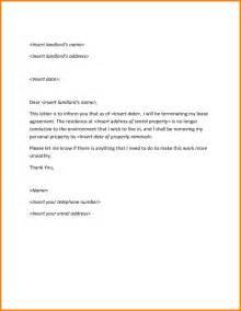 Cancellation Letter Sample For Condominium Landlord Lease Termination Letter Sample Sample Letter