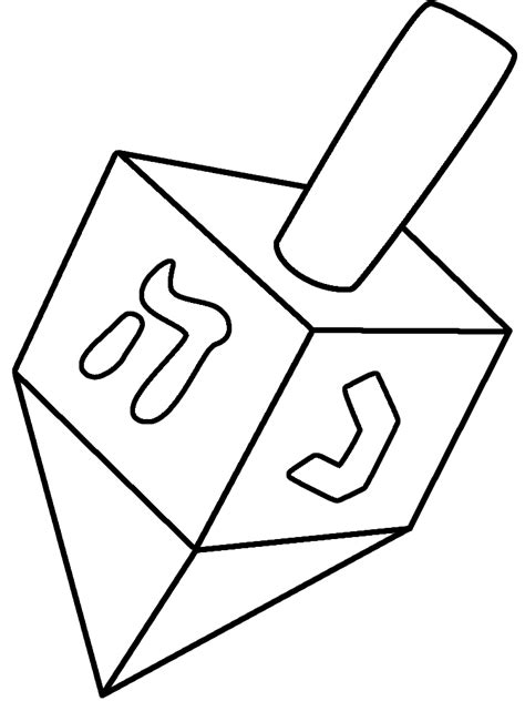 Dreidel Coloring Pages Free Free Hanukkah Coloring Pages Coloring Home by Dreidel Coloring Pages Free