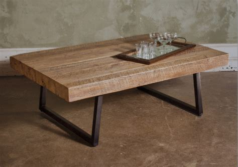 Timber Coffee Table by Reclaimed Timber Contempo Coffee Table