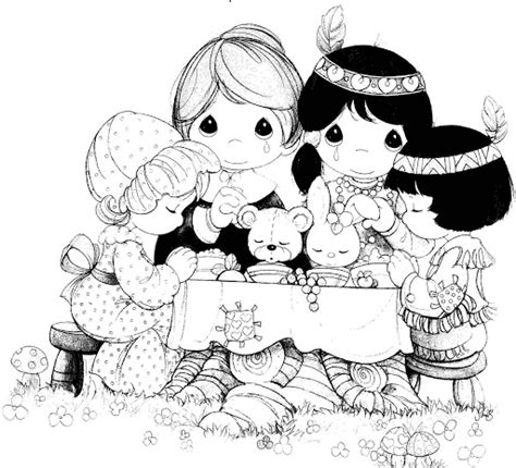 thanksgiving precious moments coloring pages