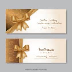 golden anniversary invitations templates golden wedding anniversary invitations vector free