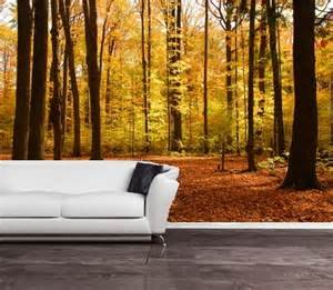cheap wall murals uk self adhesive autumn forest decorating mural art 157 free