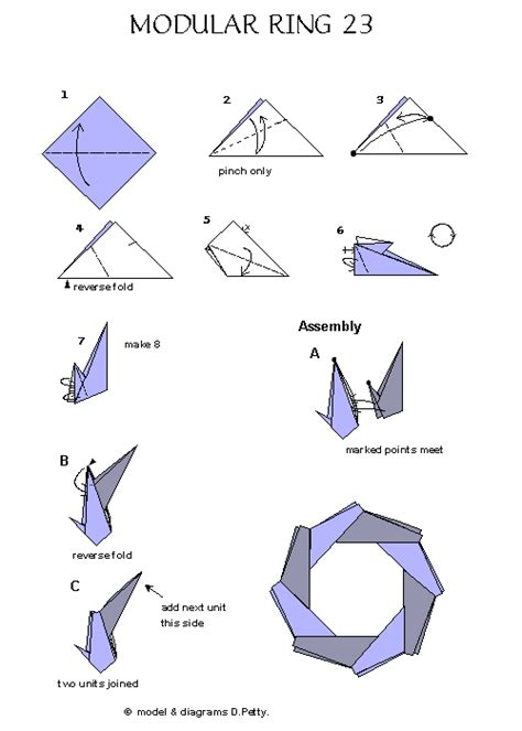 How To Make A Origami Ring - origami rings origami rings