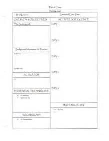 20 best images about lesson plan template on pinterest