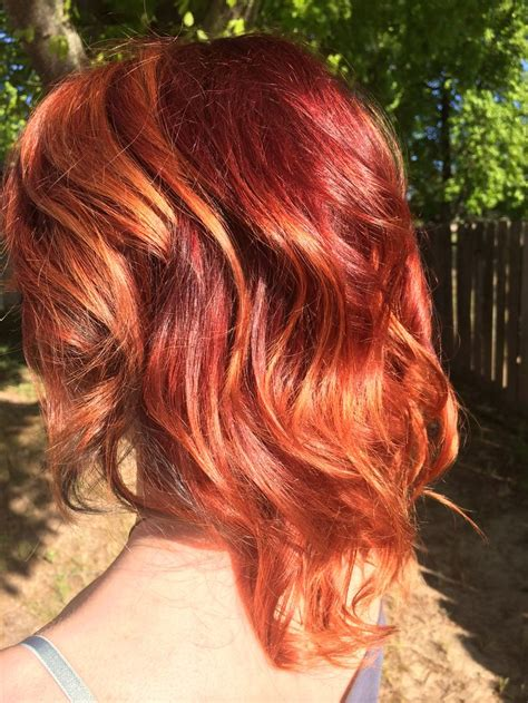 red to blonde ombre bob fiery red to copper balayage ombr 233 on short to medium