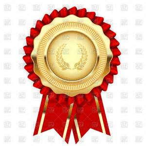 award badge template blank award template rosette with golden medal vector