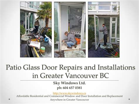 Patio Doors Vancouver Bc Ppt Patio Glass Door Repairs And Installations By Sky