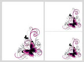 pretty pink black butterflies blank invitation templates printables downloads