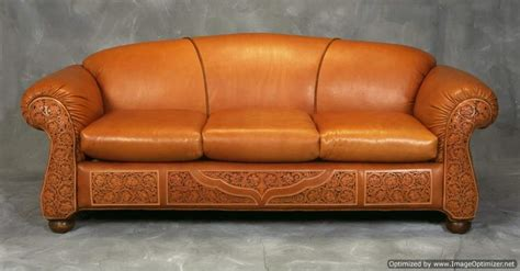 western leather couch tooled leather sofa western sofa rusticartistry com