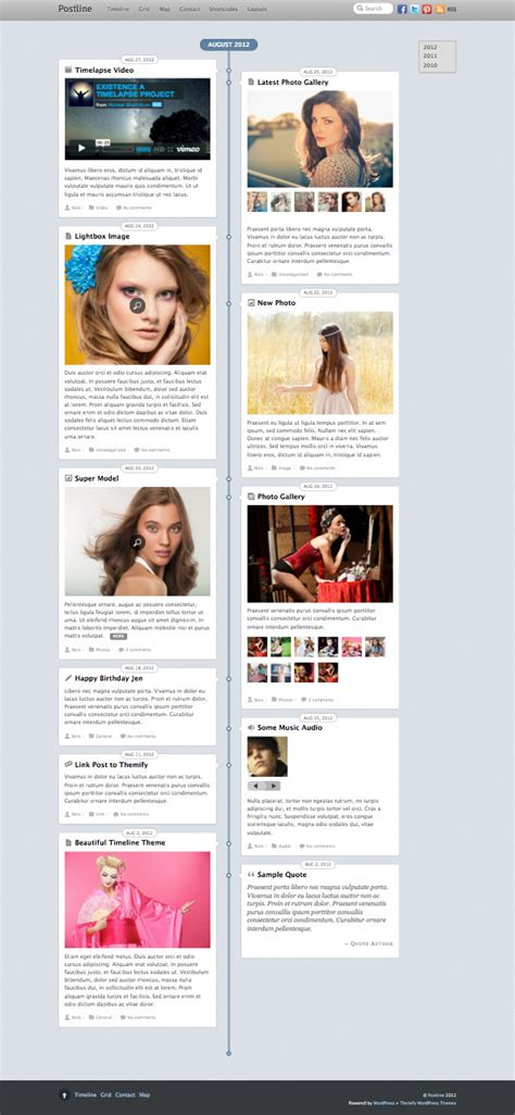 theme wordpress like facebook postline responsive wordpress theme like facebook timeline