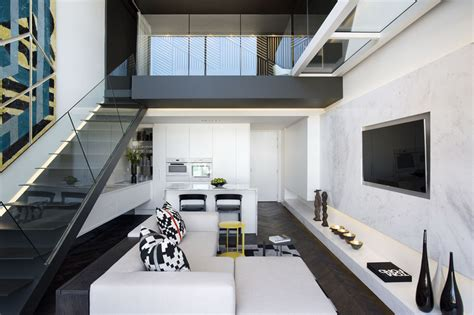 small duplex apartment with modern interior design living space allarchitecturedesigns Interior Stairs Design In Duplex Apartments