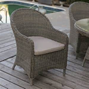 Wicker Patio Dining Chairs Mingle All Weather Wicker Patio Dining Chair Set Of 2 Outdoor Dining Chairs At Hayneedle