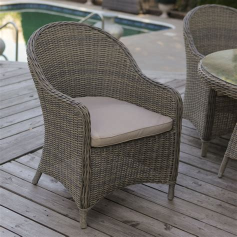 Wicker Outdoor Dining Chairs Mingle All Weather Wicker Patio Dining Chair Set Of 2 Outdoor Dining Chairs At Hayneedle