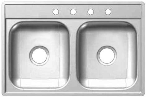Kindred Fds704n 22 Inch By 33 Inch Double Bowl Drop In 22 Inch Kitchen Sink