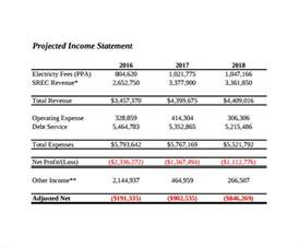 3 year income statement template sle projected income statement template 8 free