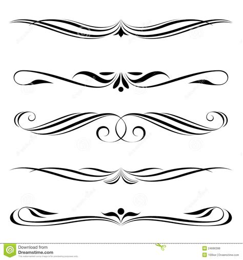 decorative line scroll fancy line border clipart 63