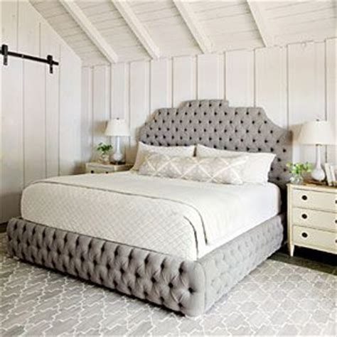 tufted king size bed master suite lake houses and lake house decorating on pinterest