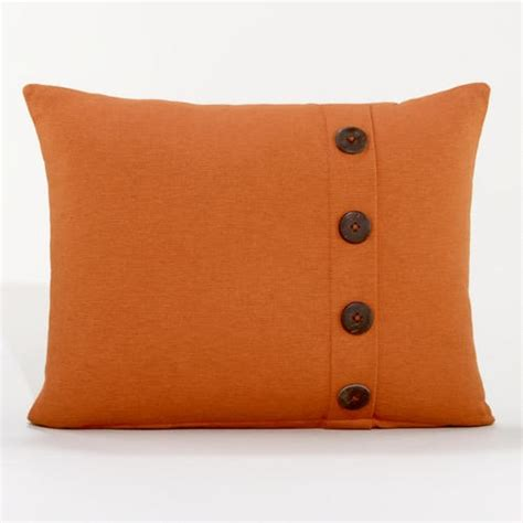 Pillows With Buttons by Rust Ribbed Throw Pillow With Buttons New Apt Decor