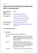 assured shorthold tenancy agreement furnished flat