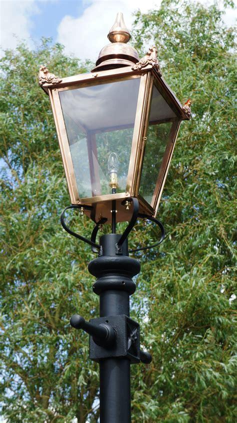 copper l post lantern the classic copper victorian garden l post in 3 7