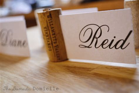 Cork Card Holder Template by Wine Themed Cork Placecard The Domestic Domicile